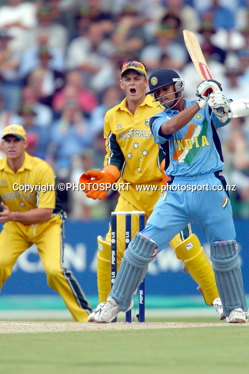 24th March 2003. 2003 Cricket World Cup Final. Johannesburg, South Africa. Australia vs India.<br />