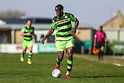Forest Green Rovers Isaiah Osbourne(34) during the EFL Sky Bet League 2 match between Forest Green Rovers and Chesterfield at the New Lawn, Forest Green, United Kingdom on 21 April 2018. Picture by Shane Healey.