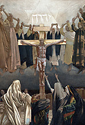 It is Finished': Christ's last words from the Cross. Illustration by JJ Tissot for his 'The Life of our Saviour Jesus Christ' London c1890. Oleograph.