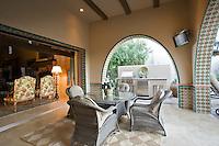 Patio of luxurious residence