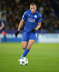 Islam Slimani of Leicester City - Mandatory by-line: Alex James/JMP - 18/10/2016 - FOOTBALL - King Power Stadium - Leicester, England - Leicester City v FC Copenhagen - UEFA Champions League