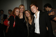 Alexandra Macbain, Louise T Blouin MacBain, Tara and Charles Macbain. THE LOUISE T BLOUIN INSTITUTE OPENS WITH INAUGURAL EXHIBITION: James Turrell: A Life in Light Exhibition. OLAF ST. LONDON. 12 OCTOBER 2006.  -DO NOT ARCHIVE-© Copyright Photograph by Dafydd Jones 66 Stockwell Park Rd. London SW9 0DA Tel 020 7733 0108 www.dafjones.com