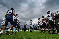 London Warriors v London Blitz coin toss - Mandatory by-line: Jason Brown/JMP - 27/08/2016 - AMERICAN FOOTBALL - Sixways Stadium - Worcester, England - London Warriors v London Blitz - BAFA Britbowl Finals Day
