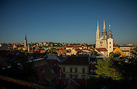 Zagreb, Croatia- May 7, 2015: Kaptol is the heart of old Zagreb. Settled in 1094, the old city is perhaps best known for the Cathedral of the Assumption of the Blessed Virgin Mary, which houses the tomb of Cardinal Alojzije Stepinac. CREDIT: Chris Carmichael for The New York Times