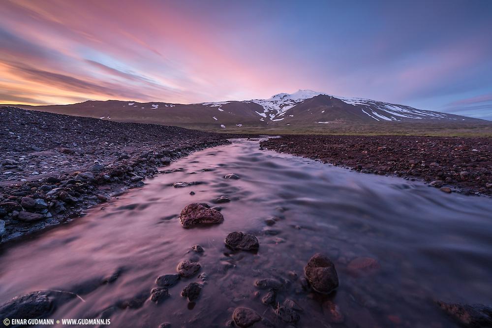 Snæfellsjökull glacier.