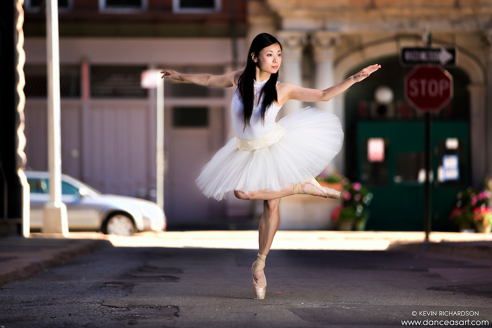 Streets of New York City Dance As Art Photography Project in Tribeca featuring dancer Shoko Fujita