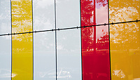 Colorful reflection from a building surface in Paris