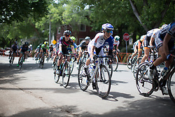 Linda Villumsen (NZL) of UnitedHealthcare Cycling Team digs deep during the fourth, 70 km road race stage of the Amgen Tour of California - a stage race in California, United States on May 22, 2016 in Sacramento, CA.