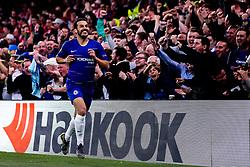 Pedro of Chelsea celebrates scoring a goal to make it 1-0 - Mandatory by-line: Robbie Stephenson/JMP - 18/04/2019 - FOOTBALL - Stamford Bridge - London, England - Chelsea v Slavia Prague - UEFA Europa League Quarter Final 2nd Leg