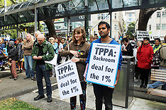 Wellington-TPPA protestors turn out in capital
