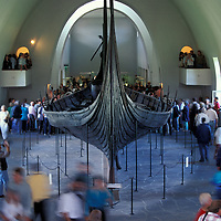 Europe, Norway. Viking long boat at Vikingskiphuset Museum on Bygdøy Peninsula.