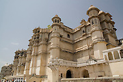 India, Rajasthan, Udaipur city palace complex
