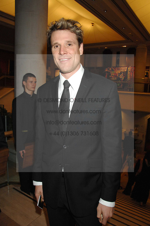JAMES CRACKNELL at the Morgan Stanley Great Britons Awards at The Guildhall, City of London on 31st January 2008.  Conservative party leader David Cameron presenter a lifetime achievement award to former Prime Minister Baroness Thatcher.<br /> <br /> NON EXCLUSIVE - WORLD RIGHTS (EMBARGOED FOR PUBLICATION IN UK MAGAZINES UNTIL 2 WEEKS AFTER CREATE DATE AND TIME) www.donfeatures.com  +44 (0) 7092 235465
