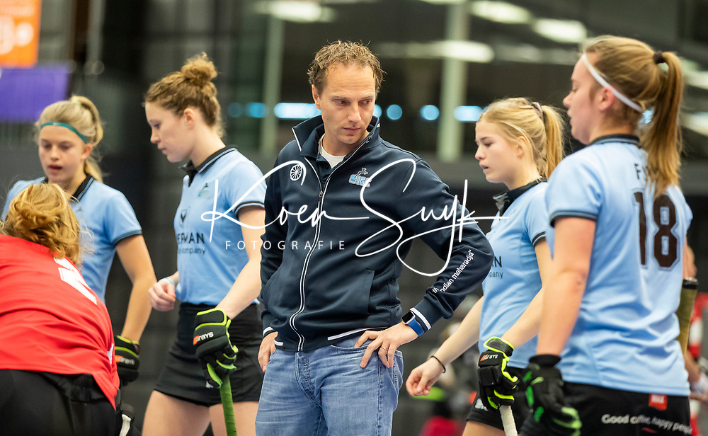 ROTTERDAM  - NK Nacompetitie Zaalhockey .  coach  Robbert-Jan de Vos. HGC-MOP.    COPYRIGHT KOEN SUYK