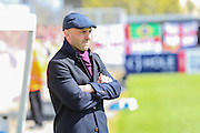 Exeter manager Paul Tisdale during the Sky Bet League 2 match between Bristol Rovers and Exeter City at the Memorial Stadium, Bristol, England on 23 April 2016. Photo by Shane Healey.