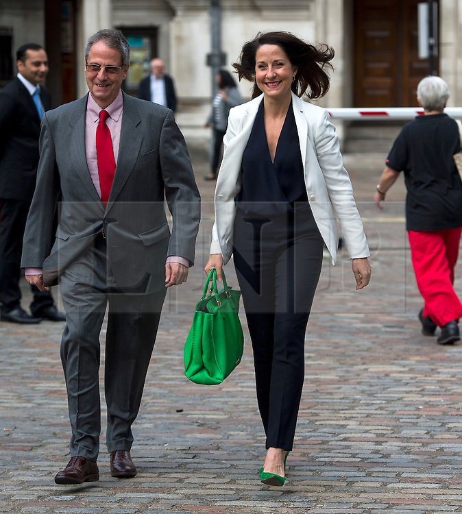 © Licensed to London News Pictures. 12/09/2015. London, UK. LIZ KENDALL arriving at the event with her father RICHARD KENDALL.  The announcement of the new leader of the Labour Party at the QEII centre in Westminster, London on September 12, 2015. Former leader ED Miliband resigned after a heavy defeat at the last election. Photo credit: Ben Cawthra/LNP