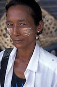BURMA - Kayin State; Myawadi. Local Burmese woman..Jeremy Horner
