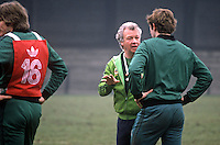 N Ireland soccer manager, Billy Bingham, during a training session at St Albans before the match against England at Wembley. 19820223014BB2<br /> <br /> Copyright Image from Victor Patterson, 54 Dorchester Park, Belfast, UK, BT9 6RJ<br /> <br /> t: +44 28 90661296<br /> m: +44 7802 353836<br /> vm: +44 20 88167153<br /> e1: victorpatterson@me.com<br /> e2: victorpatterson@gmail.com<br /> <br /> For my Terms and Conditions of Use go to www.victorpatterson.com