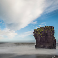 Incredible rock formation off the coast of Eastern Iceland.