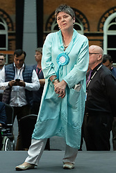 © Licensed to London News Pictures . 26/05/2019. Manchester, UK. CLAIRE FOX (Brexit Party) . The count for seats in the constituency of North West England in the European Parliamentary election , at Manchester Central convention centre . Photo credit: Joel Goodman/LNP