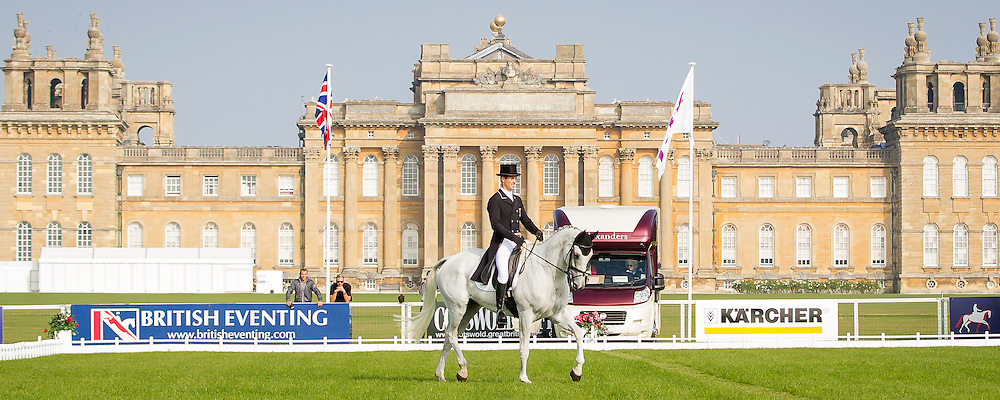 NZL-Jonathan Paget (SHADY GREY) INTERIM-13TH: CCI3* FIRST DAY OF DRESSAGE: 2014 GBR-Blenheim Palace International Horse Trial (Thursday 11 September) CREDIT: Libby Law COPYRIGHT: LIBBY LAW PHOTOGRAPHY - NZL