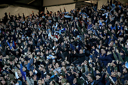 Coventry City celebrate after the final whistle of the Emirates FA Cup  Fourth Round match at  Stadium MK Milton Keynes.