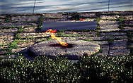 A 24.8 MG FILE FROM FILM OF:..The Eternal  Flame at the grave of John F Kennedy in Arlington Cemetary,Photo by Dennis brack