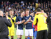 Dundee youngsters Kyle Gourley, Craig Wighton and Calvin Colquhoun applaud Julian Speroni and the away support  - Crystal Palace v Dundee - Julian Speroni testimonial match at Selhurst Park<br /> <br />  - © David Young - www.davidyoungphoto.co.uk - email: davidyoungphoto@gmail.com