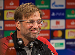 BARCELONA, SPAIN - Tuesday, April 30, 2019: Liverpool's manager Jürgen Klopp during a press conference ahead of the UEFA Champions League Semi-Final 1st Leg match between FC Barcelona and Liverpool FC at the Camp Nou. (Pic by David Rawcliffe/Propaganda)