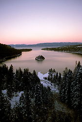 California: Lake Tahoe.  View from Emerald Bay.  Photo cataho102..Photo copyright Lee Foster, 510/549-2202, lee@fostertravel.com, www.fostertravel.com.