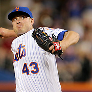 NEW YORK, NEW YORK - July 02: Pitcher Addison Reed #43 of the New York Mets pitching during the Chicago Cubs Vs New York Mets regular season MLB game at Citi Field on July 02, 2016 in New York City. (Photo by Tim Clayton/Corbis via Getty Images)