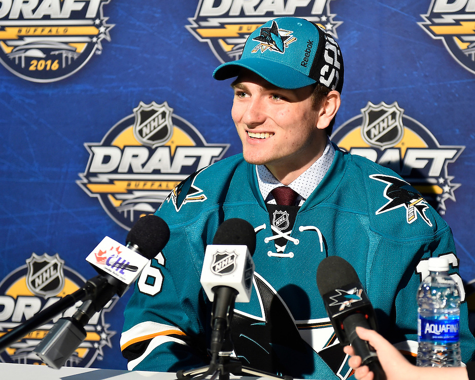 Noah Gregor at the 2016 NHL Draft in Buffalo, NY on Saturday June 25, 2016. Photo by Aaron Bell/CHL Images
