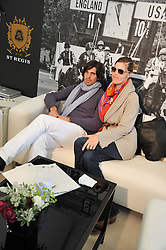 NACHO & DELFINA FIGUERAS at the St.Regis International Polo Cup between England and South America held at Cowdray Park, West Sussex on 18th May 2013.  South America won by 11 goals to 9 goals.