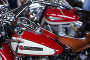 Vintage Harley- Davidson motorbike on display at the annual Bike Week in Daytona Beach, Florida.