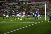 27th January 2018, SuperSeal Stadium, Hamilton, Scotland; Scottish Premiership football, Hamilton Academical versus Dundee; Dundee's A-Jay Leitch-Smith scores a 98th minute winner for 2-1