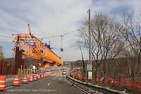 A road construction crane in Oyster Bay, Long Island, New York.Shot on April 17, 2009...Photo Credit; Rahav Segev / Photopass