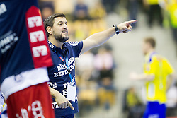 Ljubomir Vranjes, head coach of SG Flensburg Handewitt during handball match between RK Celje Pivovarna Lasko (SLO) and SG Flensburg Handewitt (GER) in 12th Round of EHF Men's Champions League 2015/16, on February 20, 2016 in Arena Zlatorog, Celje, Slovenia. Photo by Urban Urbanc / Sportida
