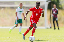 WREXHAM, WALES - Thursday, August 15, 2019: Wales' Japhet Matondo during the UEFA Under-15's Development Tournament match between Wales and Northern Ireland at Colliers Park. (Pic by Paul Greenwood/Propaganda)