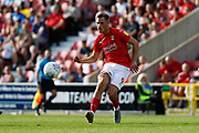 Swindon Town forward Jerry Yates during the EFL Sky Bet League 2 match between Swindon Town and Macclesfield Town at the County Ground, Swindon, England on 14 September 2019.