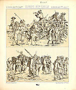 Ancient European fashion and lifestyle, 16th century from Geschichte des kostums in chronologischer entwicklung (History of the costume in chronological development) by Racinet, A. (Auguste), 1825-1893. and Rosenberg, Adolf, 1850-1906, Volume 3 printed in Berlin in 1888