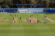 General view of the ground before Day 2 of  the Specsavers County Champ Div 2 match between Glamorgan County Cricket Club and Leicestershire County Cricket Club at the SWALEC Stadium, Cardiff, United Kingdom on 17 September 2019.