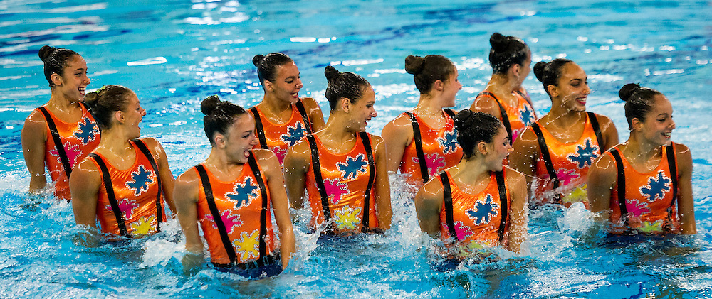 Final Highlight Routine<br /> GRE GREECE<br /> European Champions Cup Synchronised Swimming Haarlemmermeer 2015<br /> Haarlemmermeer, Netherlands 2015  May 8 th - 10 th<br /> Day03 - May 10th<br /> Photo P. F. Mesiano/Deepbluemedia/Inside