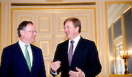 THE HAGUE - King Willem-Alexander receives the President of the German Bundesrat, Stephan Weil in audience at Noordeinde Palace. Since 2000, it is common that the annually changing Bundesrat President will visit Netherlands COPYRIGHT ROBIN UTRECHT