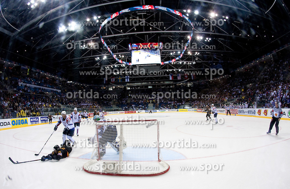 Orange Arena during ice-hockey match between Slovenia and Germany of Group A of IIHF 2011 World Championship Slovakia, on May 3, 2011 in Orange Arena, Bratislava, Slovakia. Germany defeated Slovenia 3-2 after overtime and penalty shots. (Photo By Vid Ponikvar / Sportida.com)