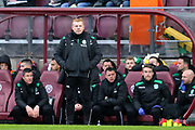 Hibernian manager Neil Lennon looks on during the William Hill Scottish Cup 4th round match between Heart of Midlothian and Hibernian at Tynecastle Stadium, Gorgie, Scotland on 21 January 2018. Photo by Craig Doyle.