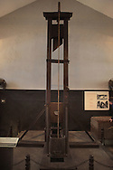 The guillotine in the Hau Lo Prison, known as the Hanoi Hilton.   A prison that held the Americn soldiers and pilots. Photograph by Dennis Brack