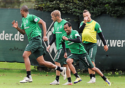 19.08.2011, Trainingsgelaende, Bremen, GER, 1.FBL, Training Werder Bremen, im Bild Wesley (Bremen #5, rechts) rennt hinter Naldo (Bremen #4, links) her..// during training session from Werder Bremen on 2011/08/19, Trainingsgelaende, Bremen, Germany..EXPA Pictures © 2011, PhotoCredit: EXPA/ nph/  Frisch       ****** out of GER / CRO  / BEL ******