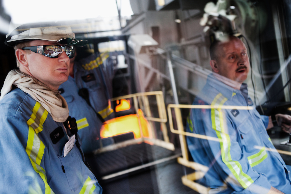 Employees at work in a metallurgical coke facility.