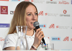 23.02.2018, Austria House, Pyeongchang, KOR, PyeongChang 2018, Pressekonferenz, im Bild Theresa Stadlober // Theresa Stadlober during a pressconference of the Pyeongchang 2018 Winter Olympic Games at the Austria House in Pyeongchang, South Korea on 2018/02/23. EXPA Pictures © 2018, PhotoCredit: EXPA/ Erich Spiess