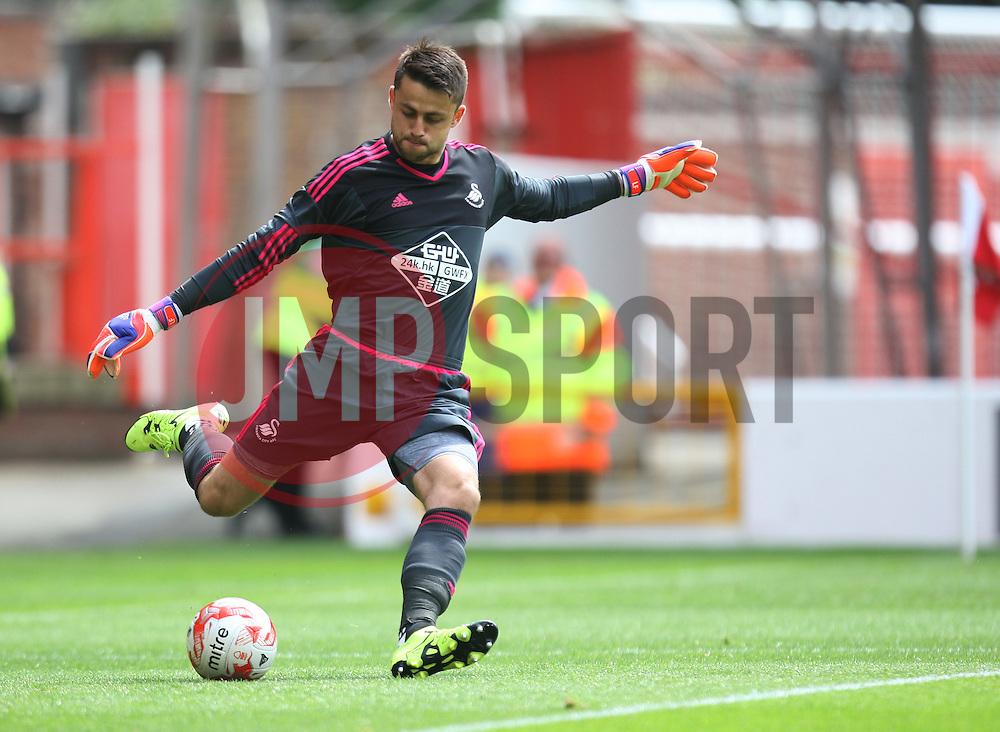 Lukasz Fabianski of Swansea City in action<br /> <br />  - Mandatory by-line: Jack Phillips/JMP - 25/07/2015 - SPORT - FOOTBALL - Nottingham - The City Ground - Nottingham Forest v Swansea - Pre-Season Friendly